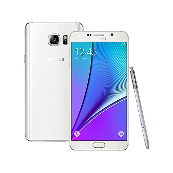Samsung Galaxy Note 5 SM-N9208 32GB 5.7-inch 4G LTE Dual SIM FACTORY UNLOCKED - International Stock No Warranty (WHITE)