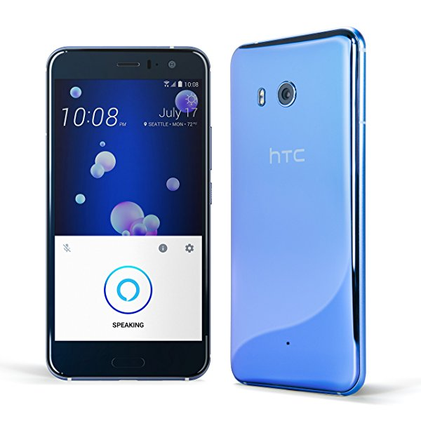 HTC U11 Factory Unlocked Phone 128GB Amazing Silver (U.S. Warranty) - 5.5""