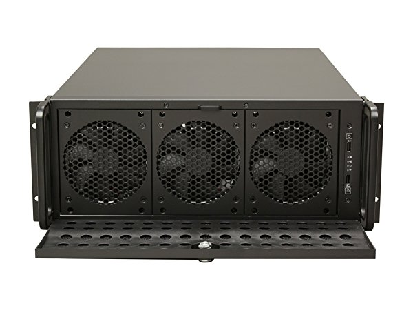 Rosewill 4U Server Chassis /Server Case /Rackmount Case, Metal Rack Mount Computer Case support with 15 bays & 7 Fans Pre-Installed (RSV-L4500)