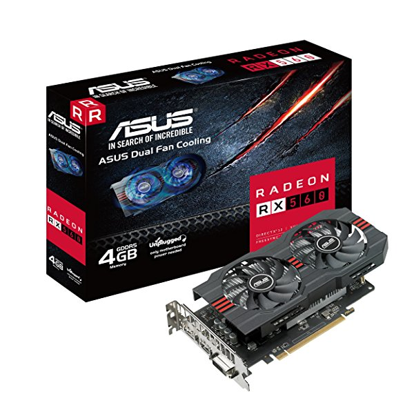 ASUS ROG-STRIX-RX560-O4G-EVO-GAMING Graphic Cards