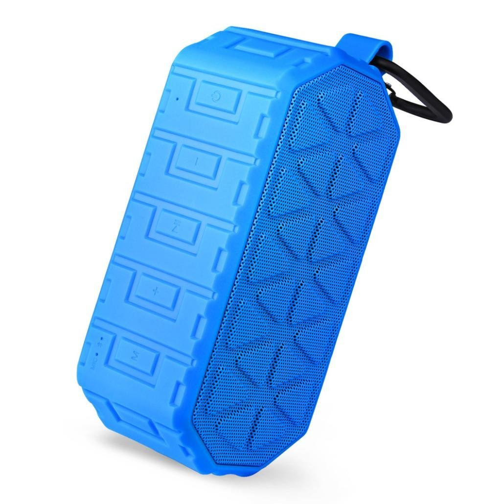 Alonea For Smartphone Qutdoor Portable Wireless Bluetooth Stereo Waterproof Speaker (Blue)