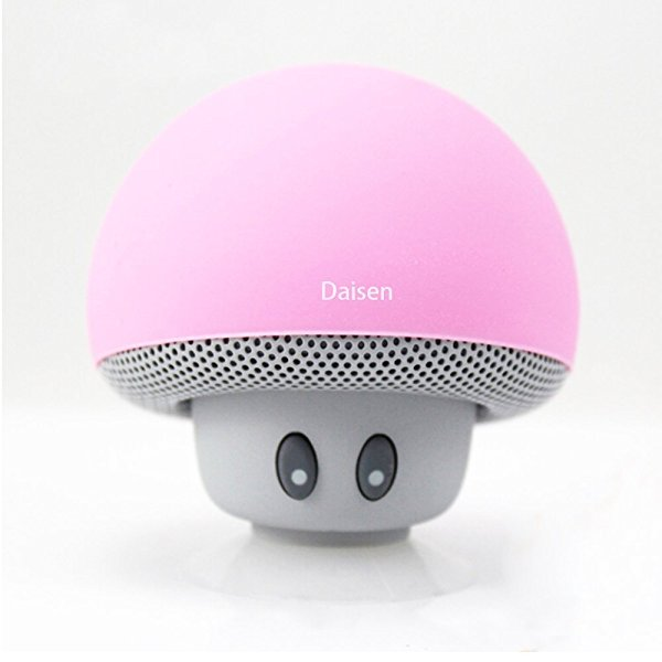 Bluetooth Speaker,DAISEN Wireless Portable Speaker with Mic for Iphone /Ipad /Laptop Samsung HTC Lg Sony Cell Phones(Pink)