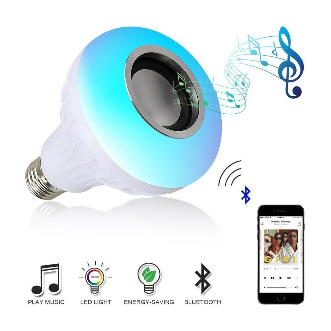 Yuaboz.H Led Light Bulb with Bluetooth Speaker Music Party RGB Built-in Audio Speaker