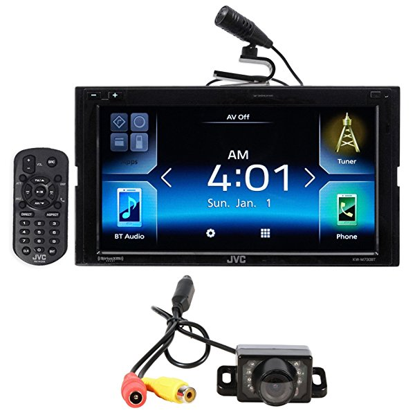 "JVC KW-M730BT 6.8"" Car Bluetooth Receiver Android, Carplay, Dual USB, EQ+Camera"