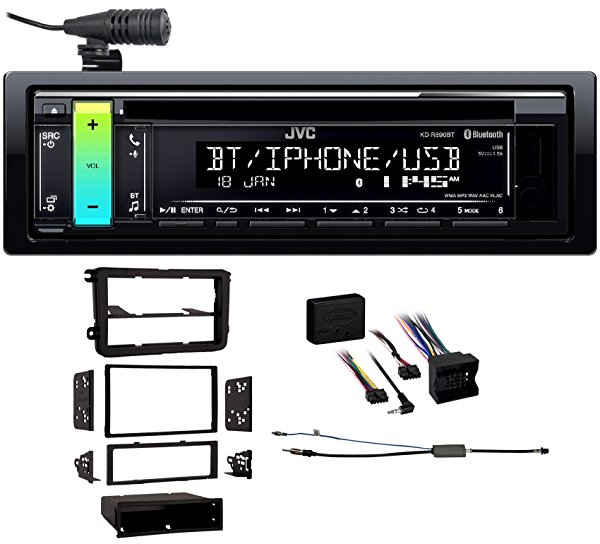 06-14 Gti VW Kenwood Car JVC CD Receiver w/Bluetooth/USB/AUX/iPhone/Android