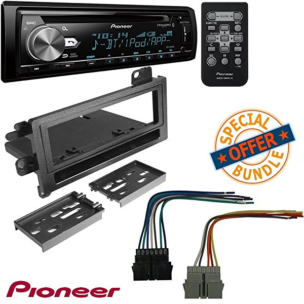 Single Din CD Receiver with USB & Aux Input W/CAR RADIO STEREO CD PLAYER DASH INSTALL MOUNTING KIT HARNESS DODGE EAGLE JEEP PLYMOUTH 1974-2001