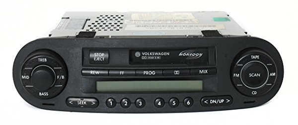 2002-04 Volkswagen Beetle AM FM Radio Cassette Player w Monsoon Part 1C0035157D