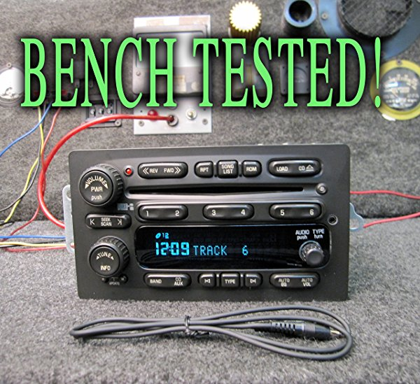 UNLOCKED! CHEVY GM GMC 6 CD CHANGER STEREO w/MP3 AUX