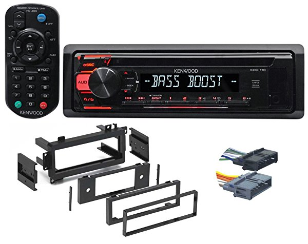 1997-2001 Jeep Cherokee 1-Din CD Receiver w/Aux/Mp3/WMA, 3-Band Eq+Remote