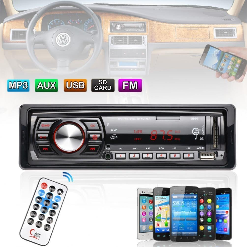 Car Stereo 50Wx4 Audio In-Dash FM Aux Input Receiver SD USB MP3 WMA Radio Player