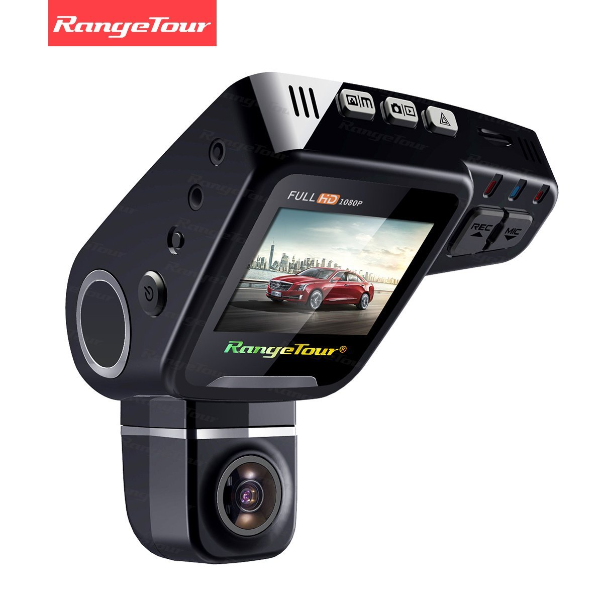 Rangetour C10s Car Dash Cam 2.0' LCD HD 1080P 170 Degree Wide Angle Nigth Vision Dashboard Hidden Video Recorder Camera with Novatek NT96650 Chip G- Sensor WDR Loop Recording, Free gift: 16GB Card