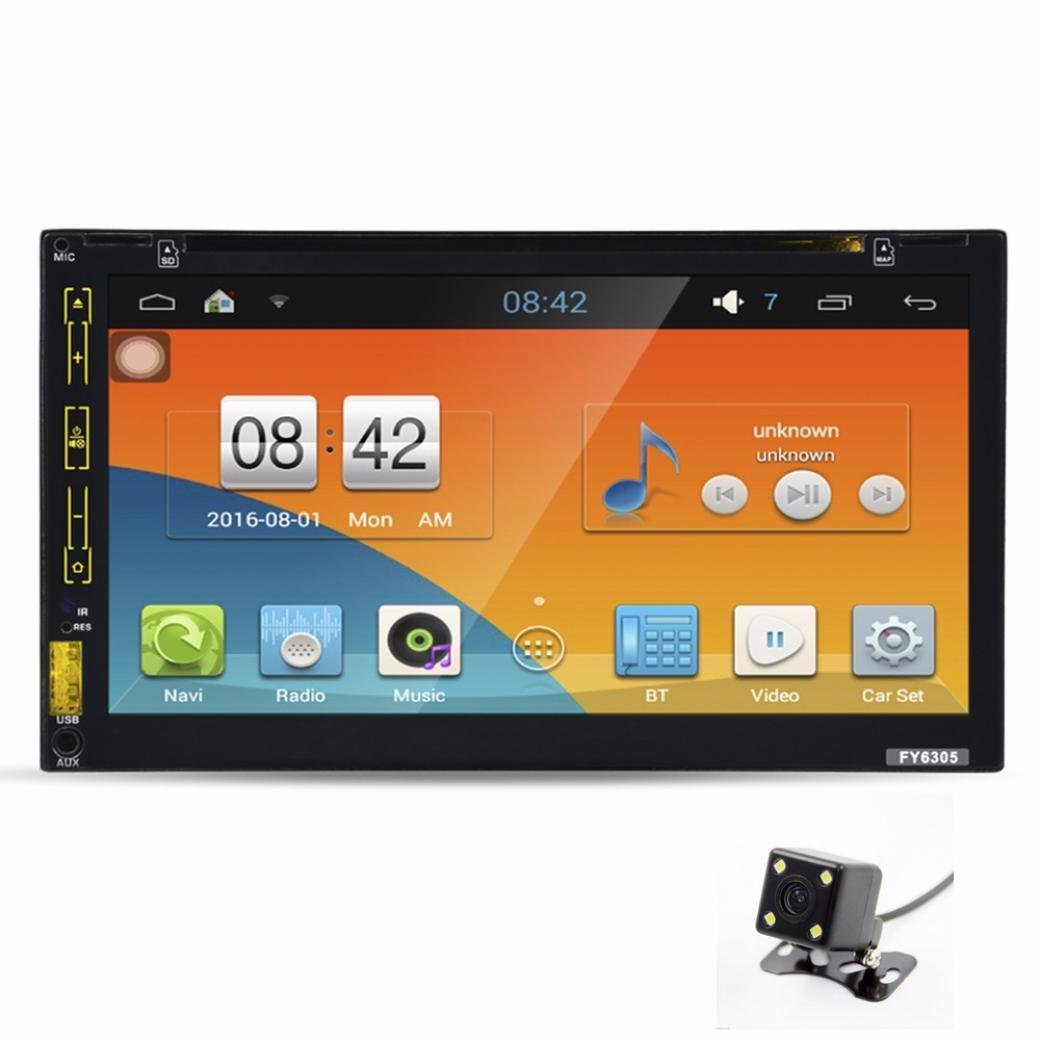 Boddenly 6.5' 2 Din Car Radio Android 5.1 Car DVD Player GPS Navigation Headunit Video Player MP3/MP4/GPS/SD/USB/Fm/Am Radio Audio Video Stereo