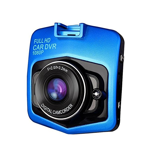 2.4 inch Full HD 1080P Dash Cam | Car Video Camera | driving recorder| Car DVR |car camcorder with 170-degree Wide Angle Lens and G-Sensor for Auto-Recording (Blue)