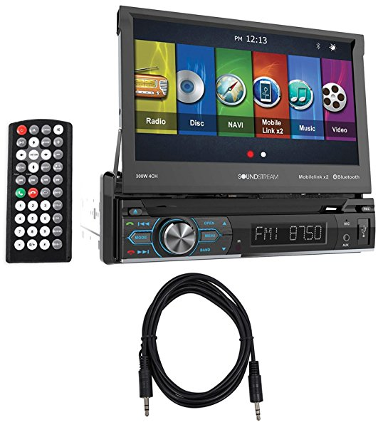 Soundstream VRN-74HB 7' Navigation DVD Player w/Bluetooth, MobileLink8.2+Cable