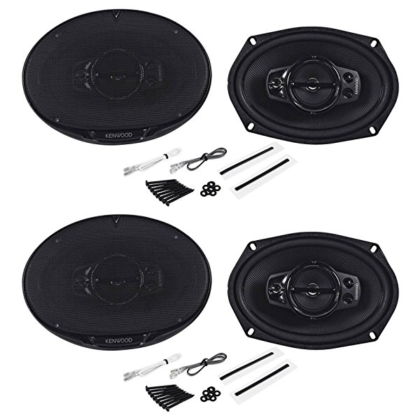 (2) Pairs of Kenwood KFC-6995PS 6' x 9' 5-Way 4-Ohm Car Speakers Totaling 2600 Watt with Acoustic Sound Harmonizer Technology