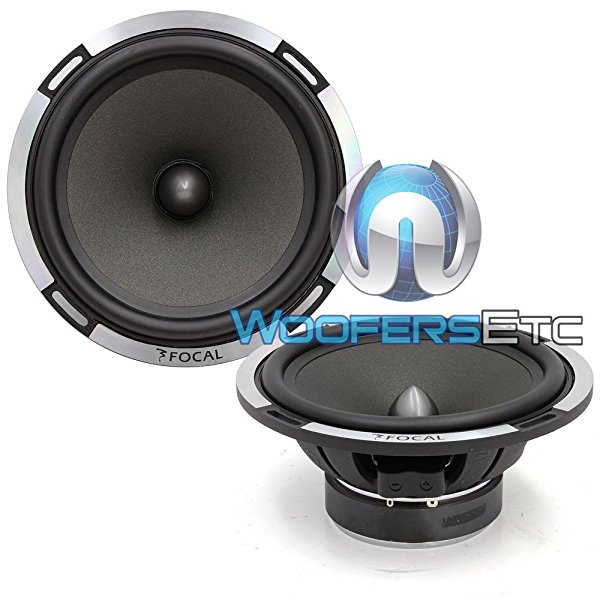 Pair of Focal 6PS-2 Ohm 6.5' Polyglass 75 Watts RMS Midrange Speakers from PS-165V Component Set