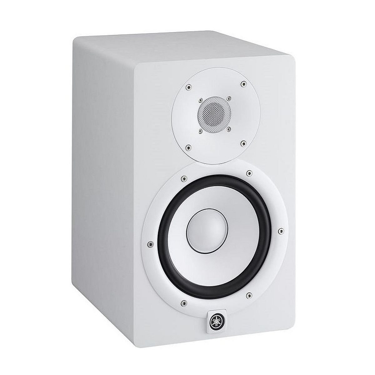 Yamaha HS7W | High-Performance 2-Way Bass-Reflex Bi-Amplified Nearfield Studio Monitor, HS7W with 6.5' Cone Woofer and 1' Dome Tweeter White