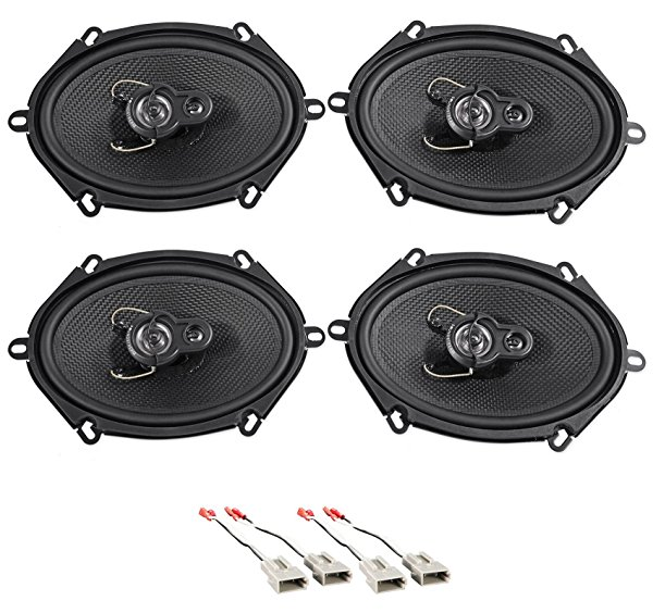 1998-2001 Ford Explorer 5x7' Front+Rear Factory Speaker Replacement Kit
