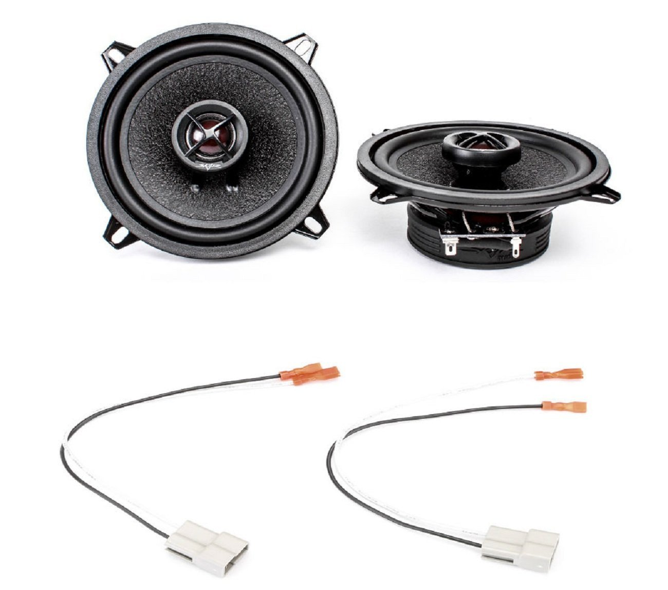 1994-1995 Dodge Shadow Front Door 5.25' 240 Watt Replacement Upgrade Speakers by Skar Audio
