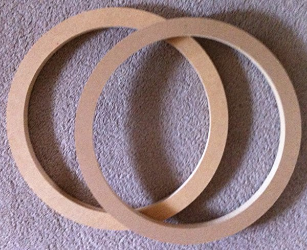 8' Speaker Spacers Subwoofer Fiberglass Rings 1' MDF Pair 7.25' Hole Cutout