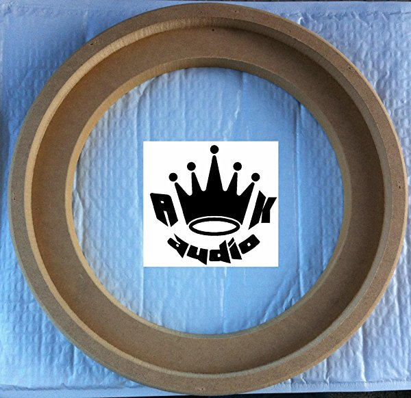 10' JL AUDIO W3 FIBERGLASS SPEAKER SUBWOOFER RINGS 3/4' MDF SUBWOOFER BOX RING