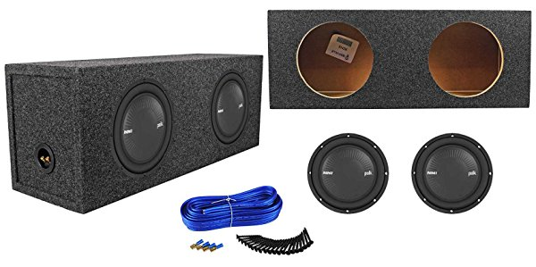 (2) Polk Audio MM1042SVC 10 2400w Car Audio Subwoofers+Sealed Sub Box Enclosure