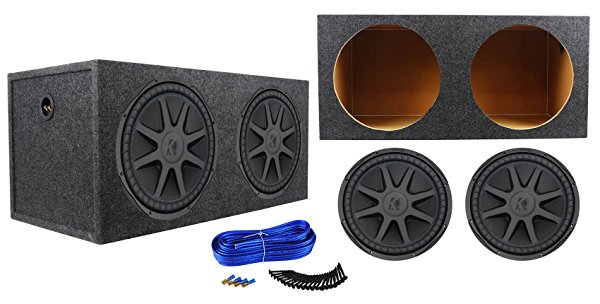 (2) Kicker 44CVX152 15' CVX 2000w RMS Car Subwoofers+Sealed Sub Box Enclosure