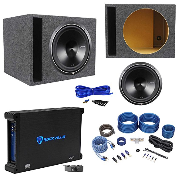 Rockford Fosgate P3D4-15 15' Subwoofer+Vented Enclosure+750W Amplifier+Wire Kit