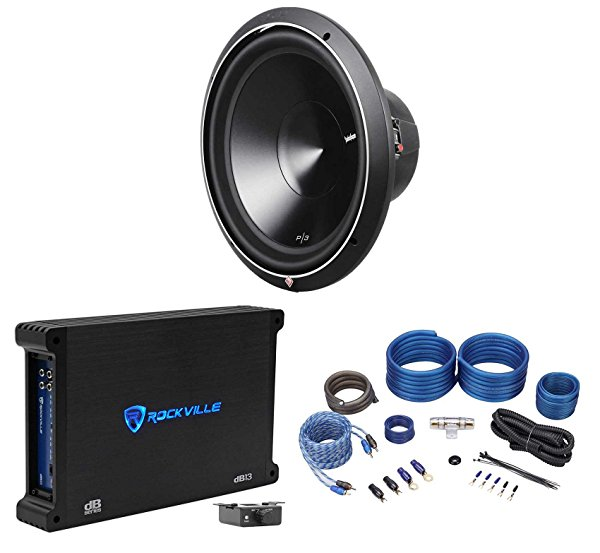 Rockford Fosgate Punch P3D4-15 15' 600W Car Subwoofer+750W RMS Amplifier+Amp Kit