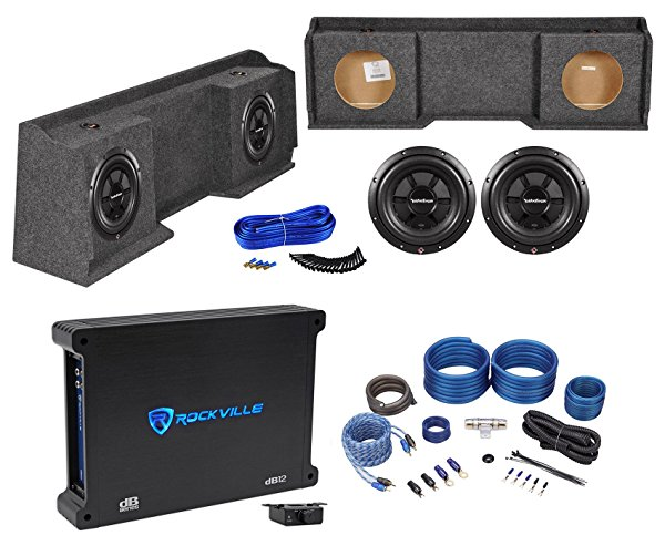 1999-2006 GMC/Chevrolet/Chevy Xcab Dual 10' Rockford Fosgate Subwoofers+Amp+Box