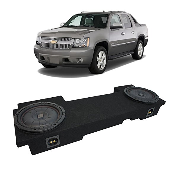 2002-2013 Chevy Avalanche Underseat Kicker CompVT CVT12 Dual 12' Sub Box Enclosure New - Final 2 Ohm
