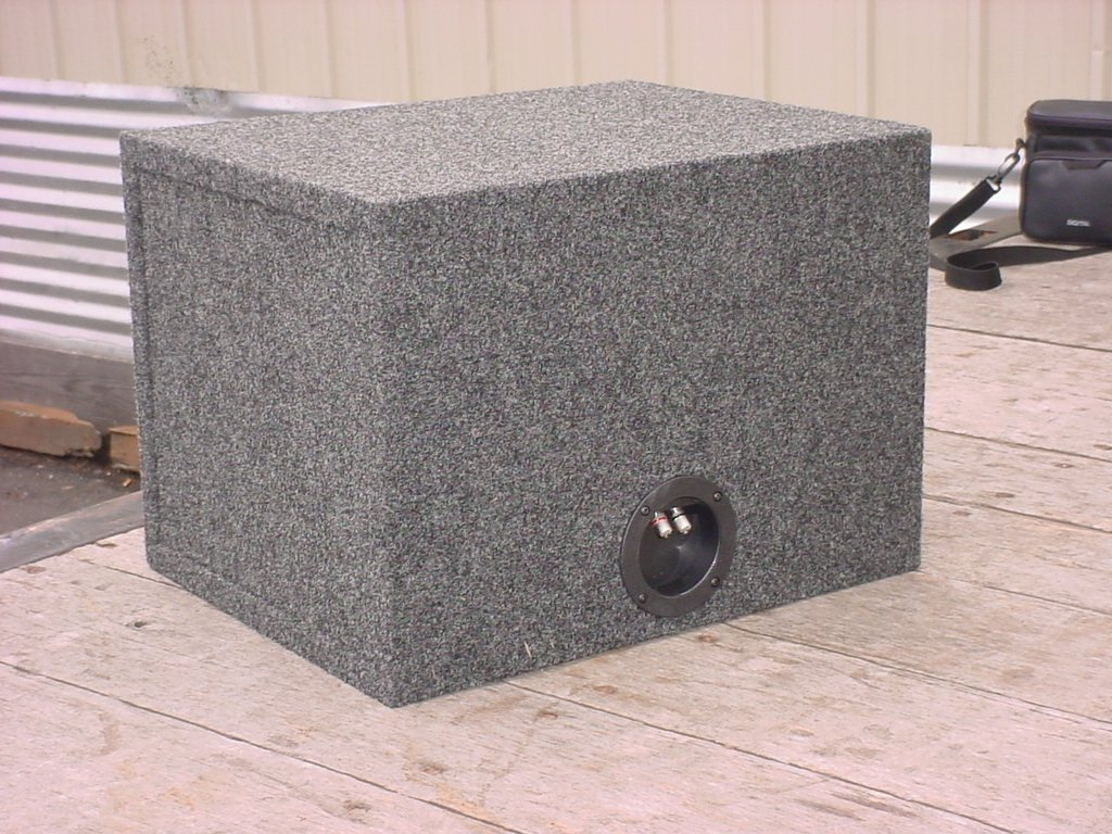 R/T 300 Enclosure Series (318-12 Kenwood) - Single 12' Slot Vented Sub Bass Hatchback Speaker Box with Labyrinth Power Port for Kenwood Subs