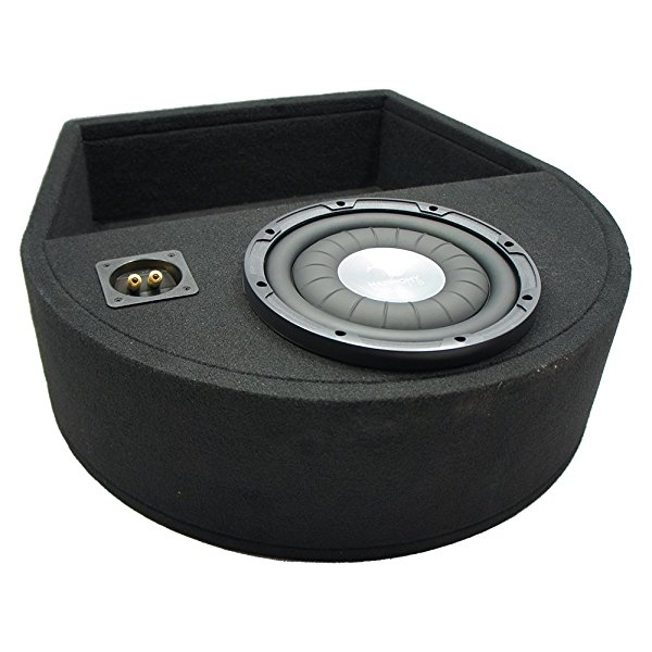 Universal Replacement Spare Tire Well Harmony HA-F104 Single 10 Sub Box 2 Ohm