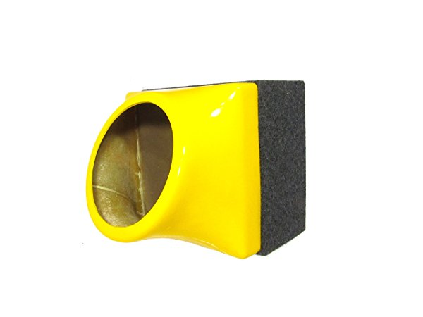 FibroPRO Single 12' Sealed Subwoofer Speaker Box Enclosure With Fiberglass Face Plate (Yellow)