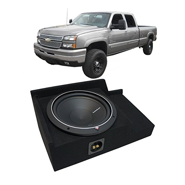 1999-2006 Chevy Silverado Ext Cab Truck Rockford Punch P1S210 Single 10 Sub Box Enclosure - Final 2 Ohm