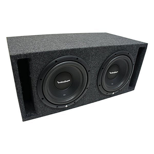 Universal Car Stereo Slotted S Port Dual 12' Rockford Prime R1S412 Sub Box Enclosure - Final 2 Ohm