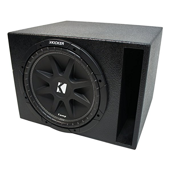 Universal Car Stereo Rhino Coated Ported 15' Kicker Comp C15 Sub Box Enclosure - Final 4 Ohm