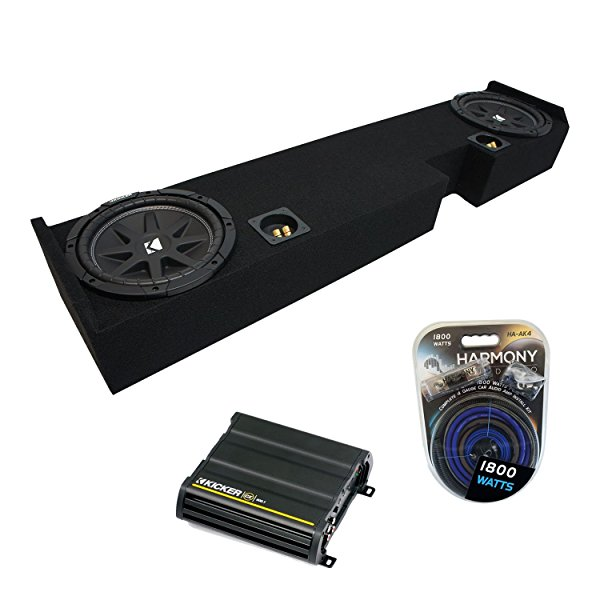 01-14 Ford F250 F350 Ext Super Cab Truck Kicker Comp C10 Dual 10' Sub Box Enclosure & CX600.1 Amp