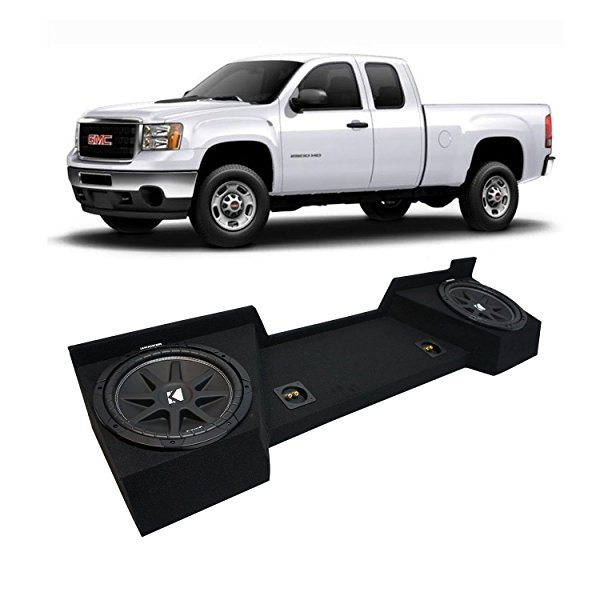 2007-2013 GMC Sierra Ext Cab Truck Kicker Comp C12 Dual 12' Sub Box Enclosure New - Final 2 Ohm