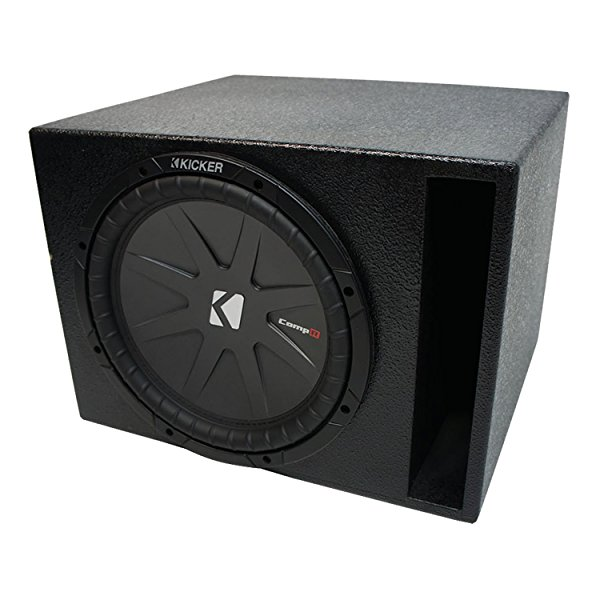 Universal Car Stereo Rhino Coated Ported 12' Kicker CompR CWR12 Sub Box Enclosure - Final 2 Ohm