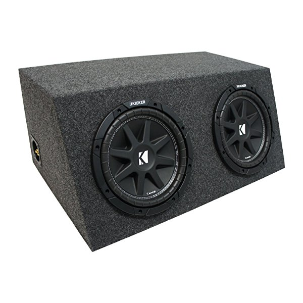 Universal Car Stereo Hatchback Sealed Dual 10' Kicker Comp C10 Sub Box Enclosure - Final 2 Ohm