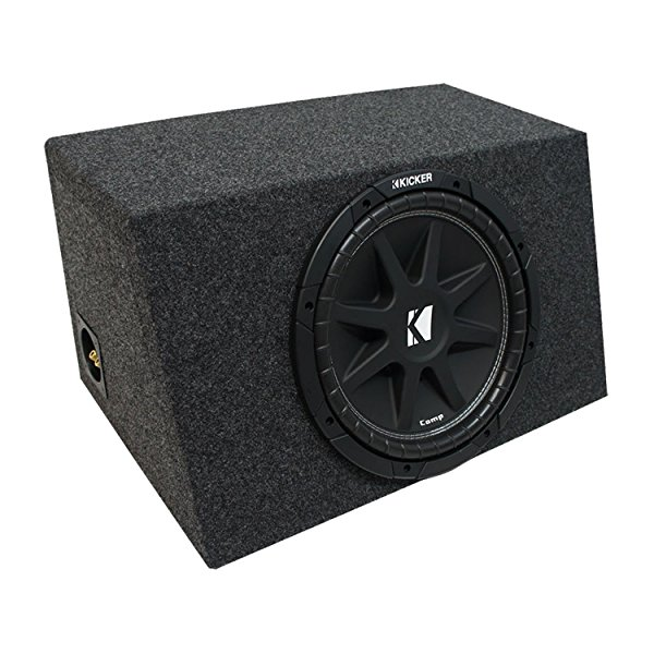 Universal Car Stereo Hatchback Sealed Single 10' Kicker Comp C10 Sub Box Enclosure - Final 4 Ohm