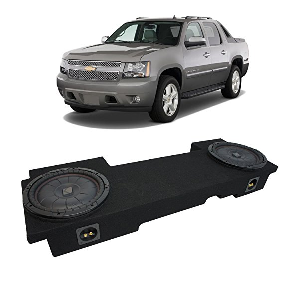 2002-2013 Chevy Avalanche Underseat Kicker CompVT CVT10 Dual 10' Sub Box Enclosure New - Final 2 Ohm