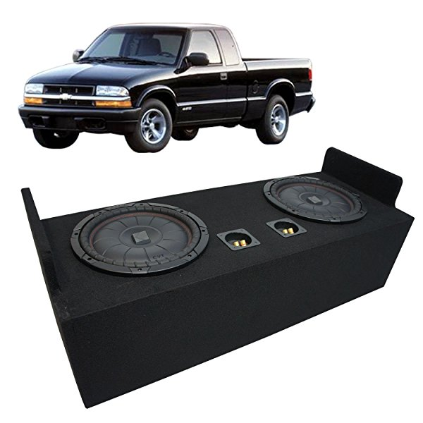 1982-2004 Chevy S-10 Extended Cab Truck Kicker CompVT CVT12 Dual 12' Sub Box Enclosure - Final 2 Ohm