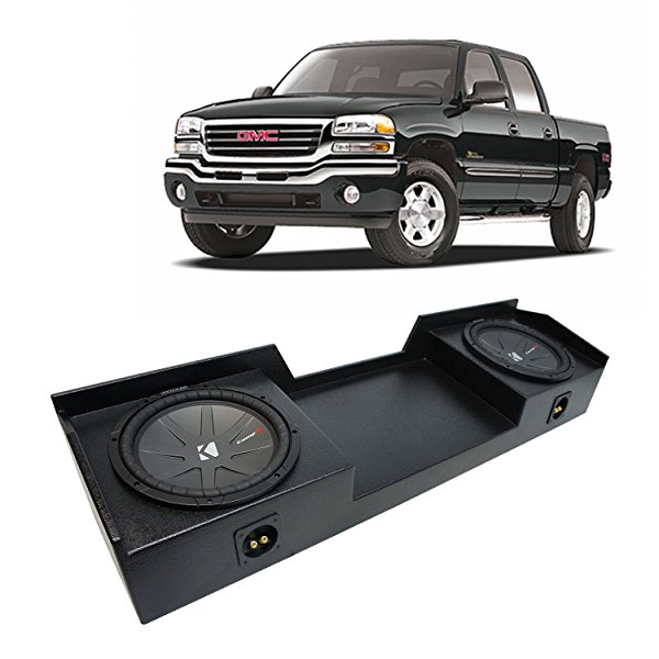 1999-2006 GMC Sierra Ext Cab Truck Kicker CompR CWR10 Dual 10' Rhino Coated Sub Box - Final 2 Ohm