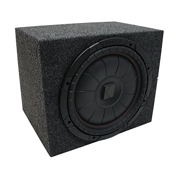Universal Car Stereo Rearfire Sealed Single 12' Kicker CompVT CVT12 Sub Box Enclosure - Final 2 Ohm