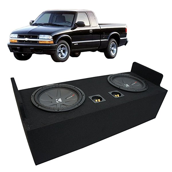 1982-2004 Chevy S-10 Extended Cab Truck Kicker CompR CWR12 Dual 12' Sub Box Enclosure - Final 2 Ohm