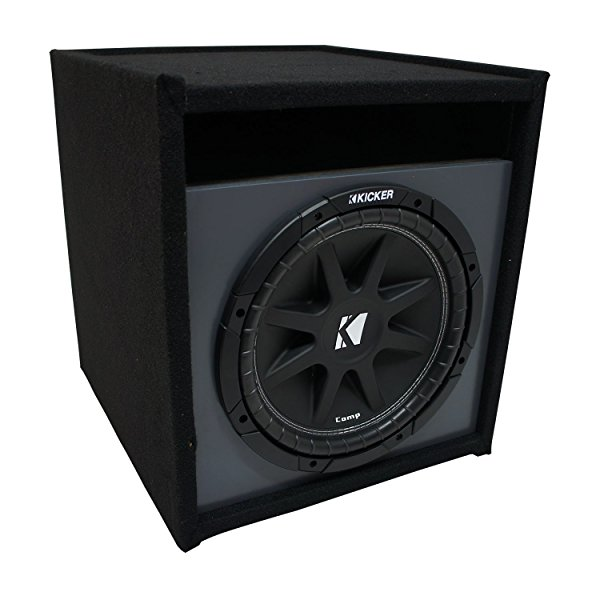 Universal Car Stereo Paintable Ported 12' Kicker Comp C12 Sub Box Enclosure - Final 4 Ohm