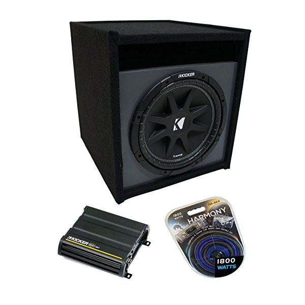 Universal Car Stereo Paintable Ported 15' Kicker Comp C15 Sub Box Enclosure & CX600.1 Amp