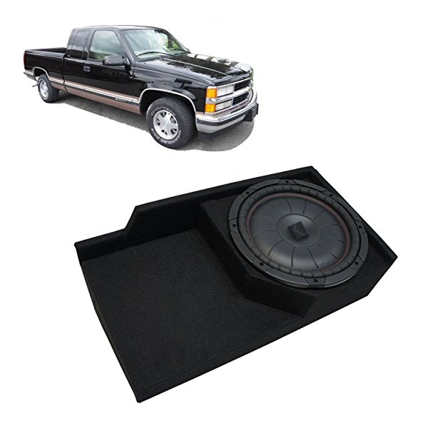 1988-1998 Chevy CK Silverado Ext Truck Kicker CompVT CVT10 Single 10 Sub Box Enclosure - Final 2 Ohm
